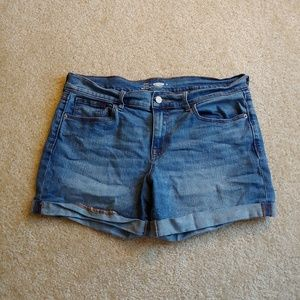 Old navy fitted stretch extensible denim shorts